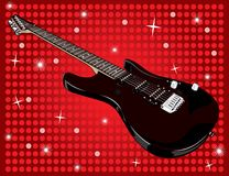 Electric guitar and red background Stock Photo