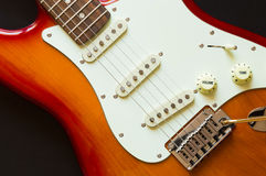 Electric guitar rock music background Stock Photo