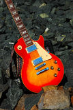 Electric Guitar on the Rocks 2 Royalty Free Stock Photography