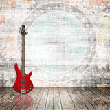 Electric guitar in the room Royalty Free Stock Photo