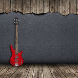 Electric guitar in the room Stock Photos