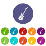 Electric guitar set icons Royalty Free Stock Photos