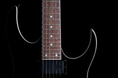 Electric guitar silhouette iso Royalty Free Stock Images