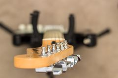 Guitar tuning pegs Stock Image