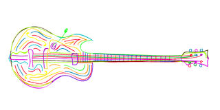 Electric guitar sketch Stock Photo