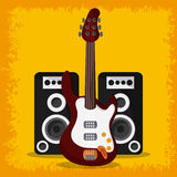 Electric guitar speaker music sound media festival icon. Vector Royalty Free Stock Images