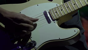 Electric Guitar on Stage stock video footage