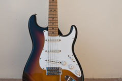 Electric guitar - stratocaster model. Sunburst color royalty free stock photography