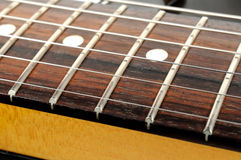 Electric Guitar Strings Close-up Royalty Free Stock Photos