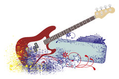 Electric guitar with strings. Royalty Free Stock Photo