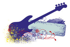Electric guitar with strings. Stock Photos