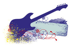 Electric guitar with strings. Royalty Free Stock Photos