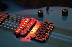 Electric Guitar Strings Up Close Stock Photos
