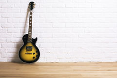 Electric guitar in studio Stock Images
