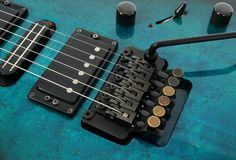 Electric guitar tremolo system Stock Photos