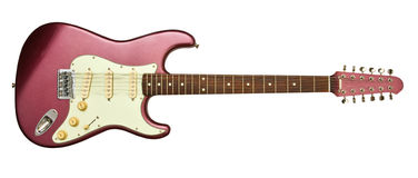 Electric guitar with twelve strings Royalty Free Stock Image