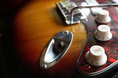Electric guitar unplugged Stock Photography