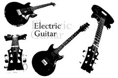 Electric guitar vector Stock Image