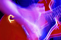 Electric guitar. Vivid color electric guitar motion blur abstract Royalty Free Stock Image
