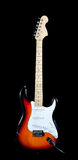 Electric guitar on white stock images