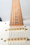 Electric guitar on white Royalty Free Stock Photo