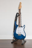 Electric guitar with on wooden floor Stock Image