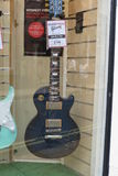 Electric guitar. YORK, UK - CIRCA AUGUST 2015: Gibson Les Paul electric guitar for sale Royalty Free Stock Images