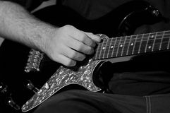 Electric Guitarist 2. A guy plays electric guitar Stock Images