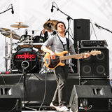 Electric guitarist of MANGA Royalty Free Stock Photo