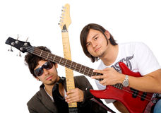 Electric guitarists Royalty Free Stock Photography