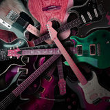 Electric guitars background Royalty Free Stock Photos