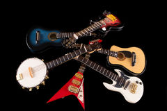 Electric guitars background Royalty Free Stock Image