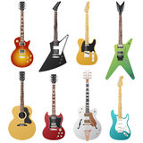Electric guitars collection Royalty Free Stock Image