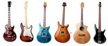 Electric guitars isolated Stock Photos