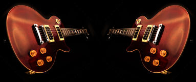 Electric guitars isolated Stock Photography