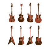 Electric guitars set. Royalty Free Stock Image