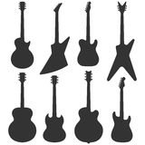 Electric guitars silhouette Stock Image