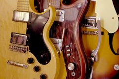 Electric Guitars Vintage. Stock Photos