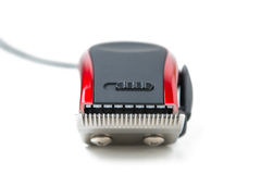 Electric hair clipper. Isolated on white royalty free stock image
