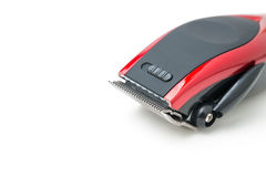 Electric hair clipper. On white royalty free stock photos
