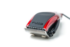 Electric hair clipper. On white stock image