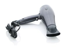Electric hair drier Stock Images
