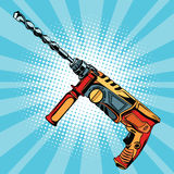 Electric hammer drill is a professional tool for building Royalty Free Stock Images