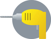 Electric hand drill tool illustration Stock Image
