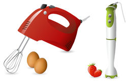 Electric hand mixer and blender royalty free illustration