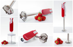 Electric hand mixer collage stock images