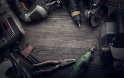 Electric hand tools Royalty Free Stock Photos