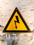 Electric hazardous area warning sign Stock Images