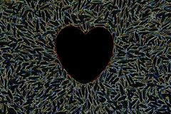 Electric Heart. The Electric Heart for Lover Concept royalty free stock images