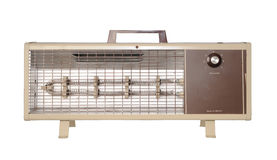 Electric Heater. An old portable electric heater stock photography